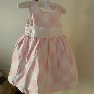 Baby girl pink and white dress 18-24mo